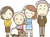 介護 家族のイラスト